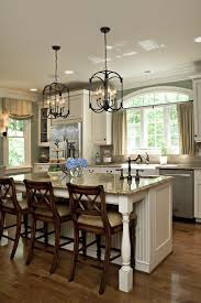 White Kitchen Island Lighting Above Cabinet Decorating Ideas Kitchen Traditional With Wood Trim