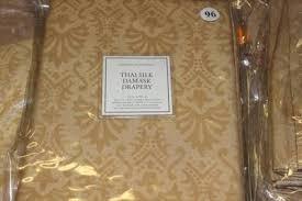 Thai Silk Drapes Restoration Hardware Thai Silk Damask Drapes Set 4 2 50x96 In