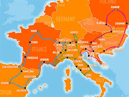 Southwest Route Map Explore Europe With The Busabout Hop On Hop Off Coach Pass
