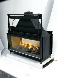 2 sided fireplace inserts wood two corner gas insert burning