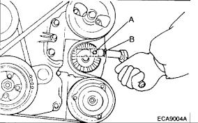 2001 hyundai santa fe alternator replacement hyundai santa fe i to replace the alternator belt on