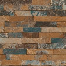 Faux Wood Wallpaper by Stone Brick And Wood Blue Purple Wallpaper Wallpaper