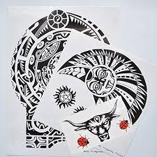 kotbs 3 pcs set dwayne johnson tattoos 3d rock star large totem