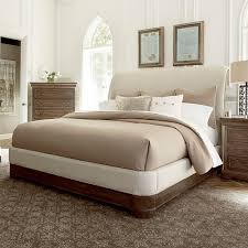 st germain upholstered sleigh bed in coffee humble abode