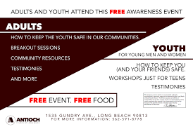 speaking event socal human trafficking events