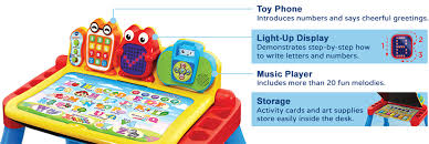 learning desk for touch learn activity desk deluxe learning vtech