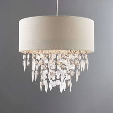 Acrylic Crystal Chandelier Drops by Mila Ivory Light Shade Dunelm White Bedroom Pinterest