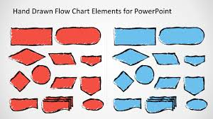 hand drawn flow chart template for powerpoint slidemodel