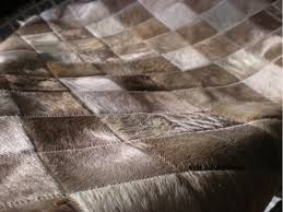 Patchwork Cowhide Rug Flooring Charming Cowhide Patchwork Rug In Brown With Checked