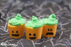Halloween Cups Healthy Halloween Frankenstein And Pumpkin Mousse Cups