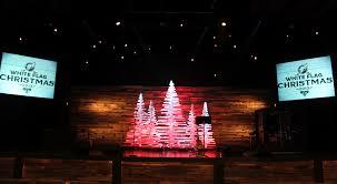 rotating christmas sticks church stage design ideas