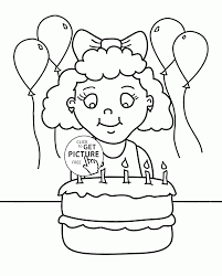 and birthday cake coloring page for kids holiday coloring