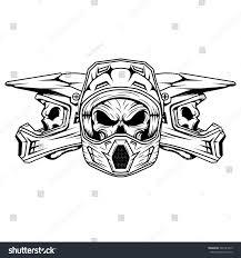 skull motocross helmet royalty free skull motocross and mountain bike helmet 399141013