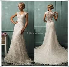 turmec ebay lace cap sleeve wedding dress