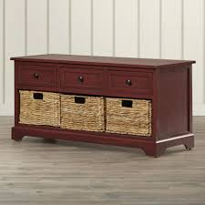 furniture diy wooden bench seat with pillow and drawer storage for