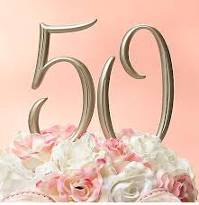 50th cake topper photo of 50th anniversary cake topper png 1 comment
