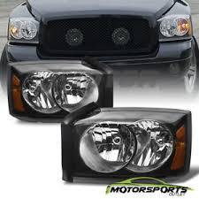 2007 dodge dakota lights factory style 2005 2006 2007 dodge dakota st slt black headlights