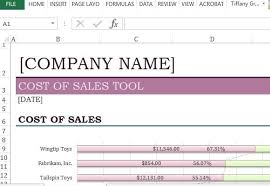 Cost Analysis Excel Template Cost Of Sales Analysis Excel Template