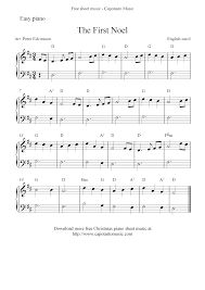 easy free christmas sheet music for piano the first noel