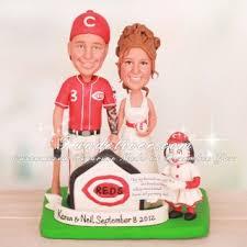 cincinnati reds baseball wedding cake toppers