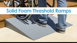 our solid foam threshold ramps are the perfect alternative to