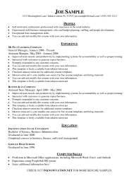 General Resume Sample by Free Resume Templates To Download Intended For 81 Exciting