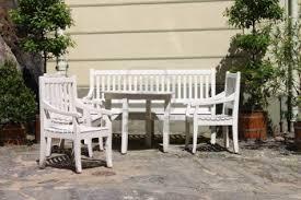 Cream Garden Bench White Wooden Outdoor Furniture Modrox Com