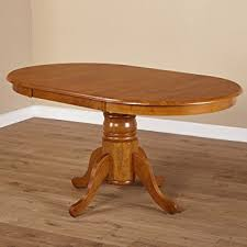 Amazoncom Simple Living Oak Rubberwood Round Oval Farmhouse - Amazon kitchen tables