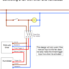 extractor fan wiring diagram with timer extractor wiring