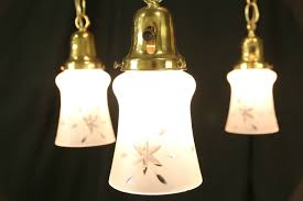 Brass Light Gallery by Sold Brass 1910 Antique Ceiling Light Fixture 5 Cut Glass