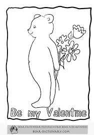 valentines bears coloring pages toby u0027s valentines bear
