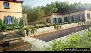 mediterranean style custom backyard terrace by johnny maalouf 3d