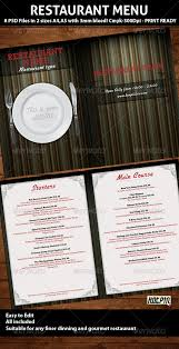 elegant restaurant menu psd template psd templates food menu