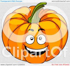 pumpkin no background clipart of a cartoon happy pumpkin royalty free vector