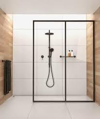 Small Bathroom Designs With Walk In Shower Best 25 Black Shower Ideas On Pinterest Concrete Bathroom