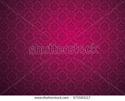 purple damask wallpaper floral patterns stock illustration