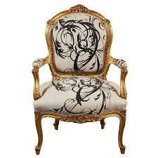 Louis Xv Armchairs Louis Xv Gilt Wood And Upholstered Arm Chair For Sale At 1stdibs