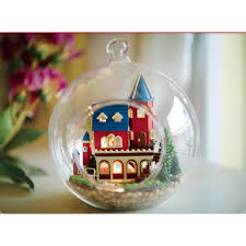 alice wonderland diy miniature house model glass globe ornament
