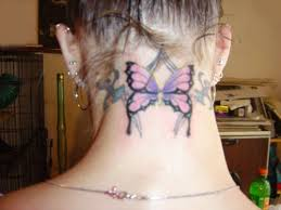 butterfly tattoos on neck pictures meaning designs