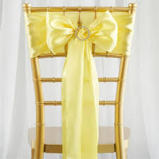 chair sash 5 pcs yellow satin chair sashes tie bows catering wedding party