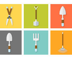 gardening tools icon set vector art u0026 graphics freevector com