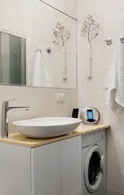 salle de bain plan de travail sdb sèche linge et lave linge sous plan de travail et vasque