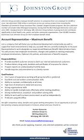 Human Resources Representative Johnston Group Inc Linkedin