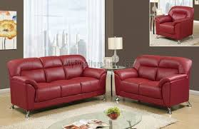 U R Red PVC Living Room Set By Global Fiona Andersen - Red leather living room set