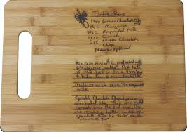 cutting board with recipe engraved my laser gifts personalized gifts awards marketing products