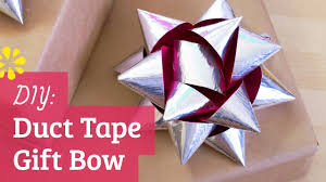 large gift bows diy duct gift bow how to make a large gift bow using duct