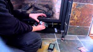 how to change fireplace remote batteries youtube