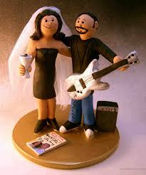 guitar cake topper players wedding cake topper