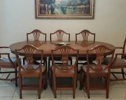 Mahogany Dining Room Table And 8 Chairs Duncan Phyfe Etsy