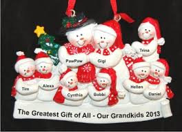 grandparents with 7 grandkids tree personalized